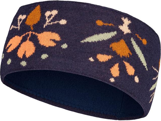 Maloja SchwarzbeereM. Headband, niebieski/pomarańczowy